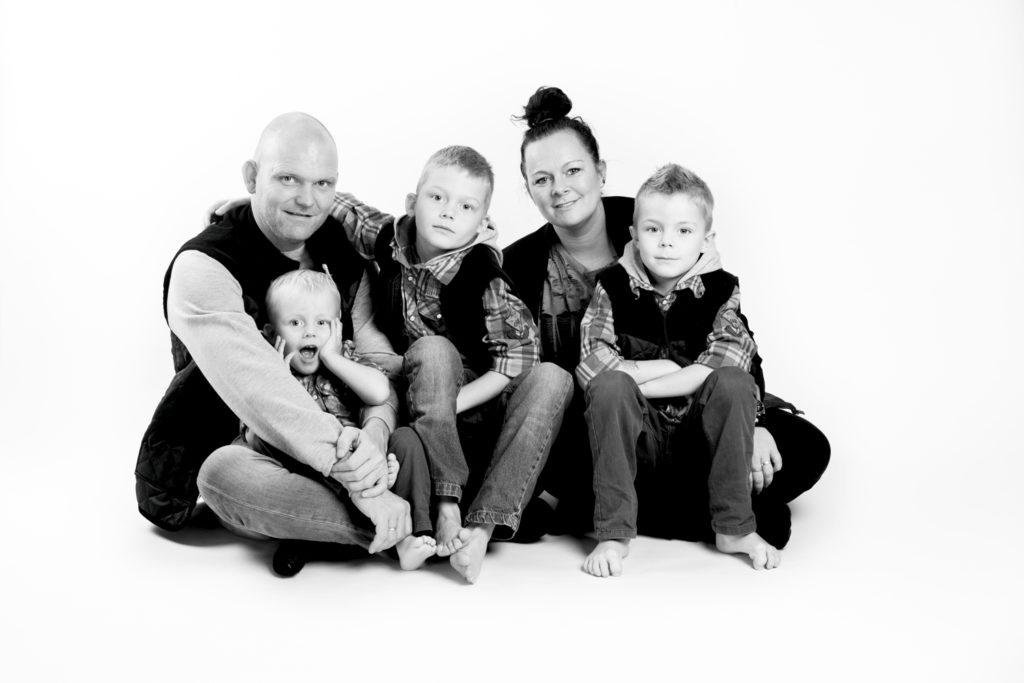 portrætbilleder børn og familie